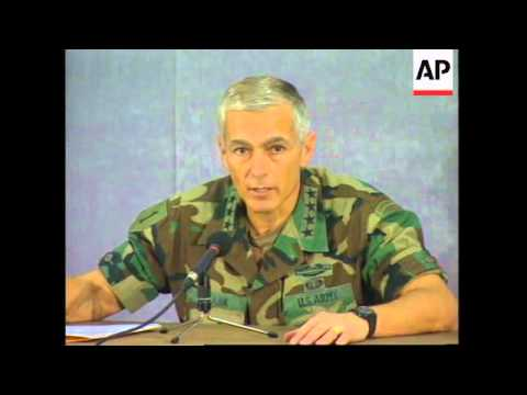 BOSNIA: NATO SUPREME COMMANDER GENERAL WESLEY CLARK VISIT