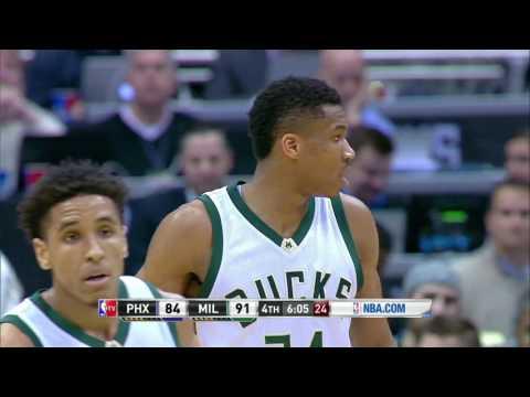 Phoenix Suns vs Milwaukee Bucks | February 26, 2017 | NBA 2016-17 Season