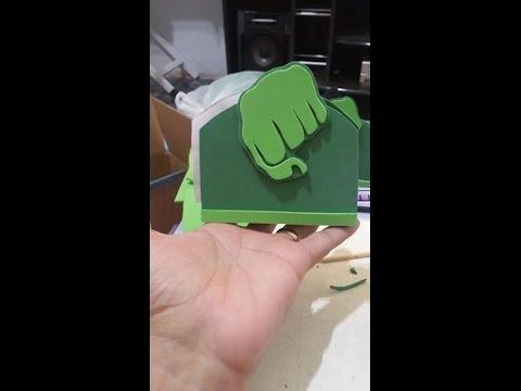 Porta Guardanapo Hulk Em E V A Youtube