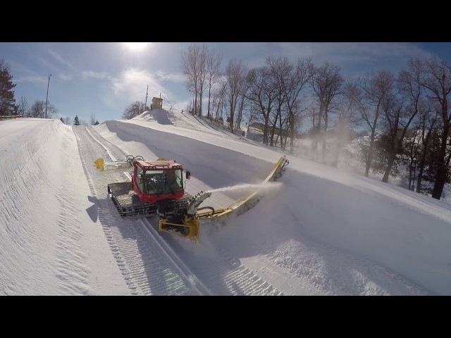 Grooming the Buck Hill Half Pipe