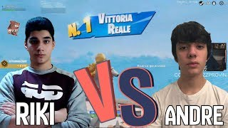 ANDRE e RIKI si INCONTRANO in PARTITA e GUARDATE chi VINCE! | Fortnite ITA