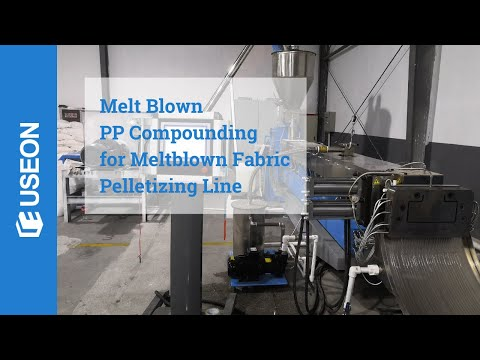 Melt Blown PP Compounding For Meltblown Non-woven Fabric Pelletizing Line