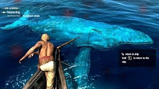 Repeat youtube video Assassin's Creed 4 All Harpooning Activities & The White Whale ( Moby Dick )