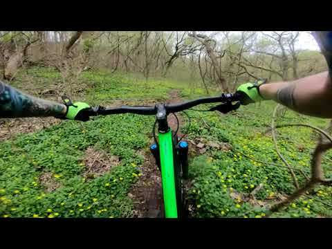 Practice and learning trails at Evansburg State Park, Mountain Biking.