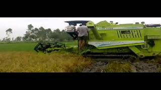 BEST PADDY HARVESTER  for WET field.....KARTAR Harvester/....