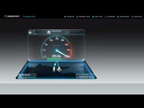 Speedtest Telkom Indihome 300 Mbps