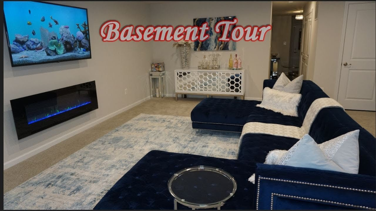 Glam Modern Basement Tour| Furnished | Interior design| Home Decor