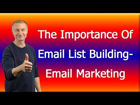 The Importance Of Email List Building-Email Marketing