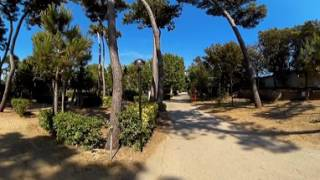 Video 360 della Zona Tende al Camping Village Settebello di Salto di Fondi, Latina, nel Lazio