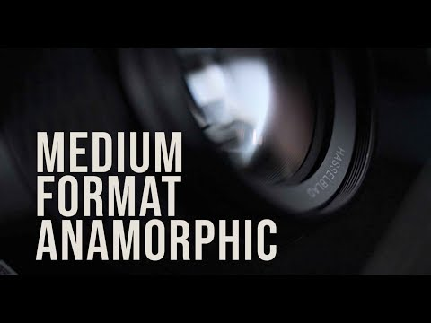 Hasselblad H6D-100C medium-format camera paired with DIY anamorphic lens system