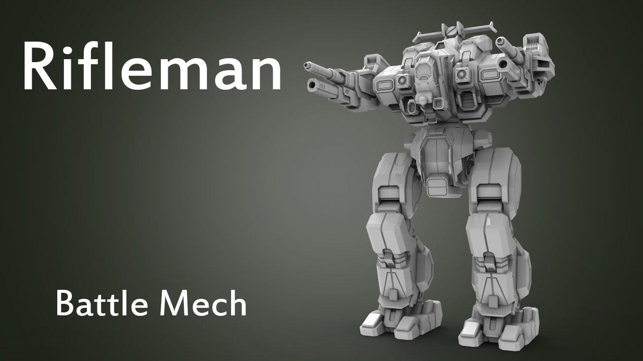 battlemech rifleman 3d model