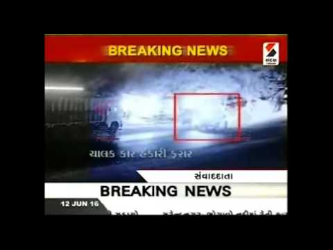 Police Fire 3 Round in Air, Chase Goons in Anand, Gujarat | CCTV Footage
