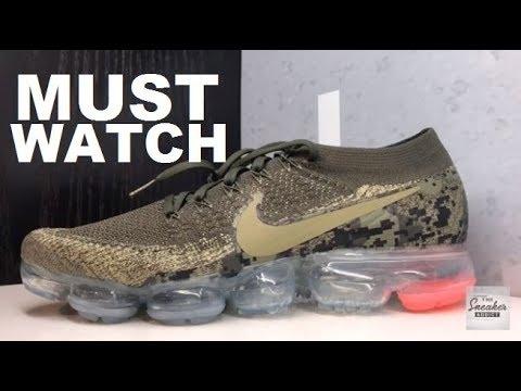 Nike Vapormax DIGI CAMO Cargo Green Sneaker - WATCH BEFORE YOU BUY ... 44f4e066e