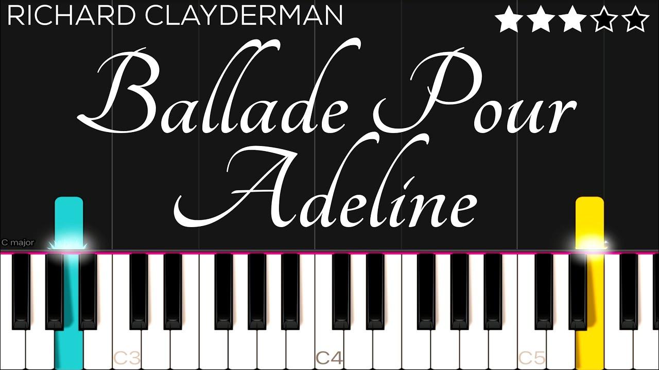 Richard Clayderman - Ballade Pour Adeline   Piano Tutorial