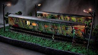 GRAFFITI - Hand-Painted Model Train 1:87