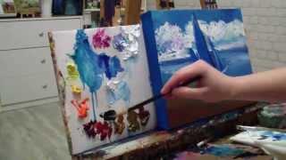 Афремов за 30 минут Алла Белопесоцкая видеоурок живопись маслом