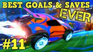Rocket League Montage: BEST GOALS & SAVES EVER #11 - Freestyle goals, dribbles & more [HD]