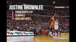 Justin Brownlee Games Highlight Mix PBA 2017 Semifinals Commissioners Cup 2017