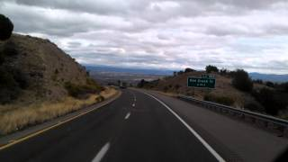 Seven miles of 6% downhill grade on Interstate 17 North near New River, Arizona