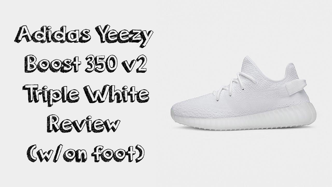 a09473de88e9a Adidas YEEZY 350 V2 (Cream Triple White) - Unboxing