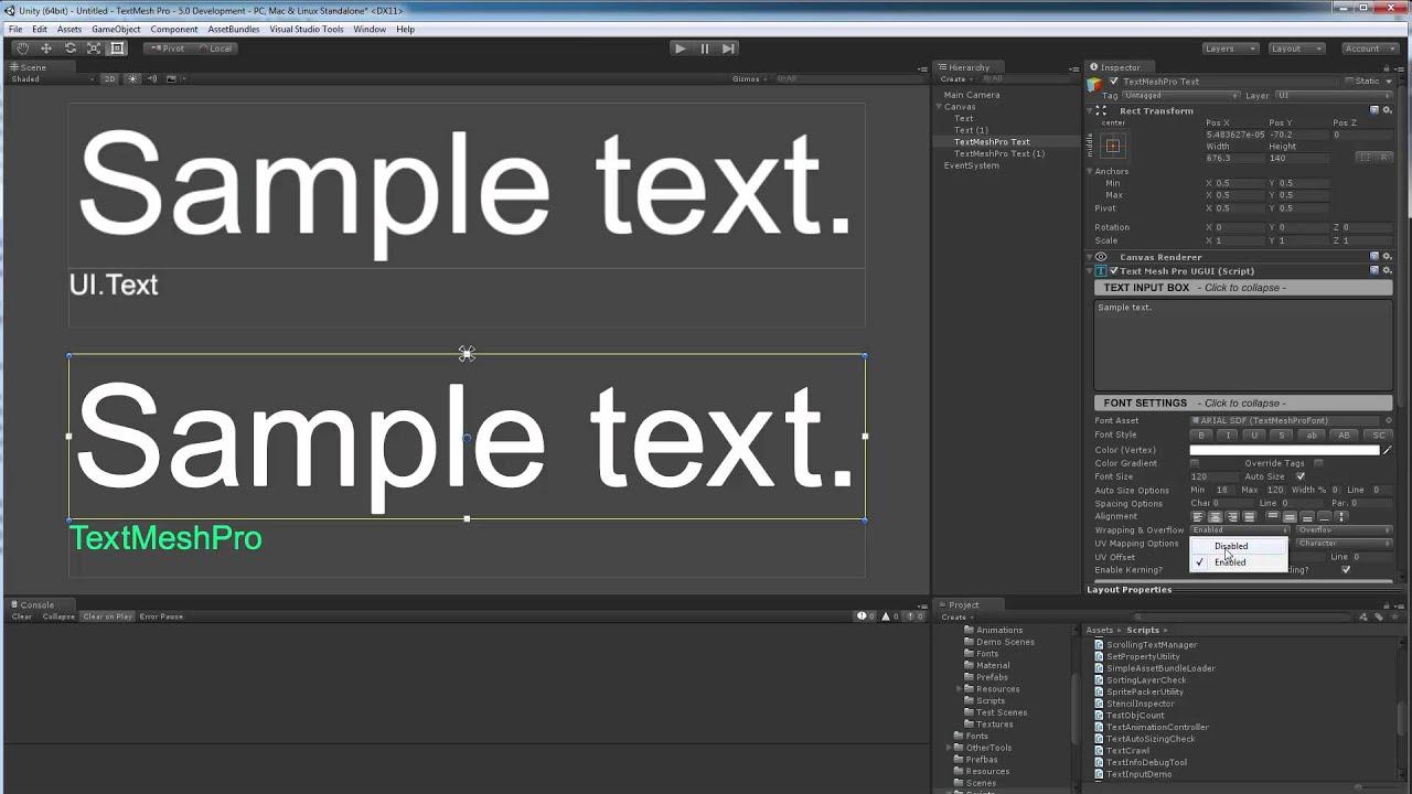 TextMesh Pro - Text Auto Sizing vs  UI Text - Best Fit