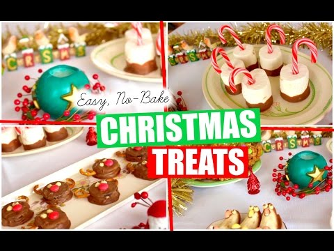 QUICK & EASY, NO-BAKE CHRISTMAS TREATS! | Lizzie Gines