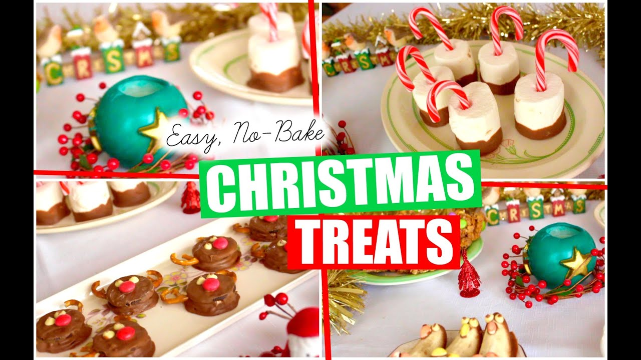QUICK & EASY, NO-BAKE CHRISTMAS TREATS! | Lizzie Gines - YouTube