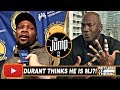 T-Mac Thinks Durant Is Wrong About Jordan Not Going Through Criticism | The Jump | Nov 18, 2017