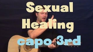Sexual Healing (Marvin Gaye) Easy Guitar Lesson How to Play Tutorial Capo 3rd Fret