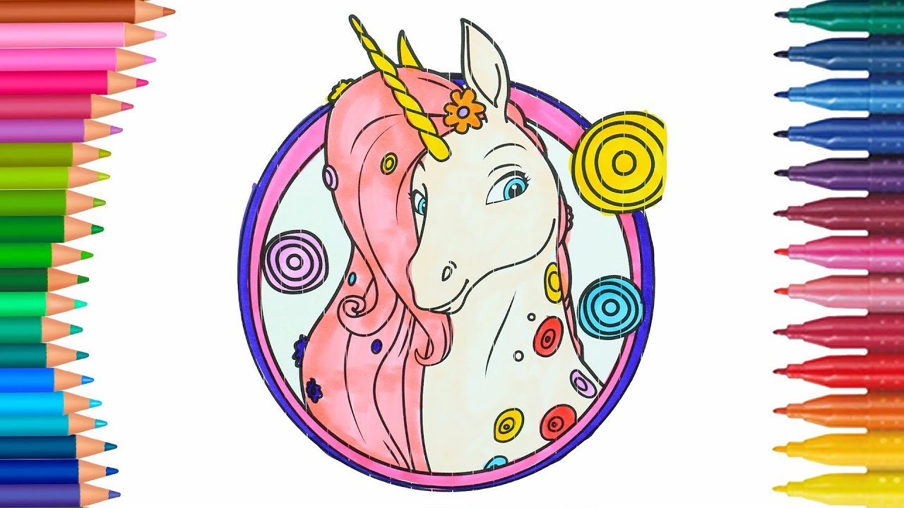 Unicorn mia and me coloring page little hands coloring book