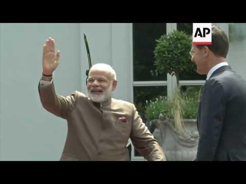 Indian PM Modi arrives in Netherlands