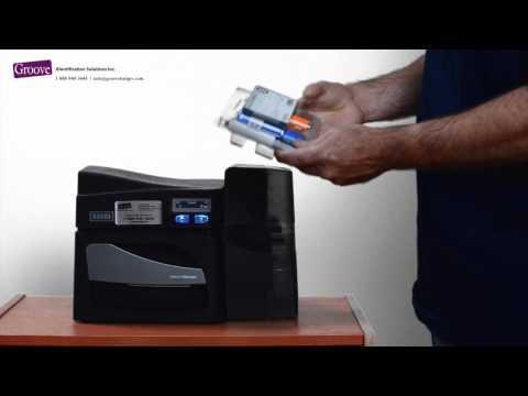 Fargo DTC4500 and Fargo DTC 4500e printer ribbon installation