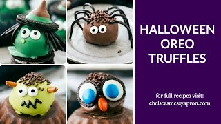 Four Halloween Oreo Truffles