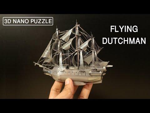 3D Metal Model Kit - Flying Dutchman - Nano Puzzle