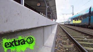 Realer Irrsinn: Zu hoher Bahnsteig in Bad Bentheim