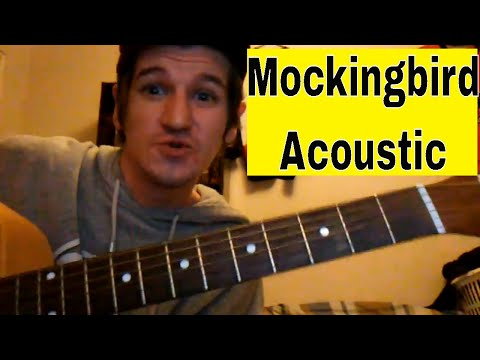How To Play 'Mockingbird' - Eminem - Easy Acoustic Guitar Tutorial/Lesson