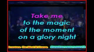 Vídeo Karaoke Scorpions Wind Of Change...