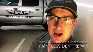 Paintless Dent Repair | MN | Toyota Prius V Door Dent