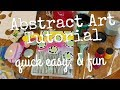 Abstract Art Painting Tutorial / Fresh New Art / Paint with me