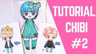 "【DRAWING】How To Draw ""3 Heads"" Chibi Lesson ♥! (ENG/ESP)"