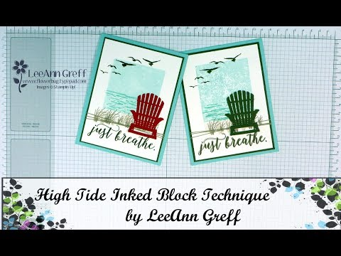 High Tide Inked Block technique