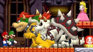 New Super Mario Bros DS HD - All Castles