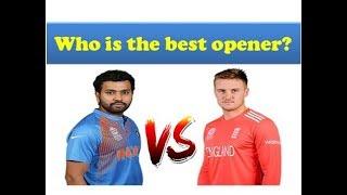 Rohit Sharma vs Jason Roy batting Comparison 2018 || India vs England 1st ODI 2018
