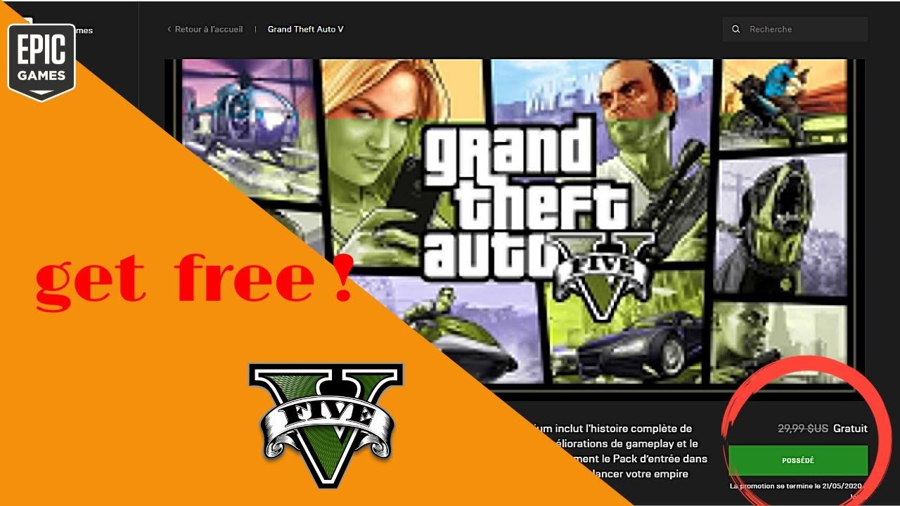 how to create epic games account + get GTA V premium ...