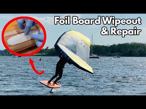 Vacuum Bag Foil Board Repair with Epoxy Resin