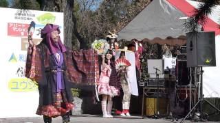 12月15日元祖武田赤備えまつりにて岐阜城盛り上げ隊「マムシに乗った道三」