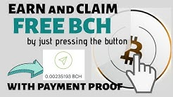 FREE bitcoin cash with BCH BUTTON SPINNER with payment proof