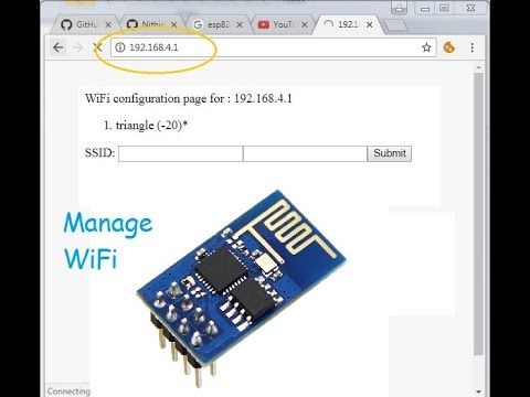 ESP8266 WiFi Manager Using simple html web page