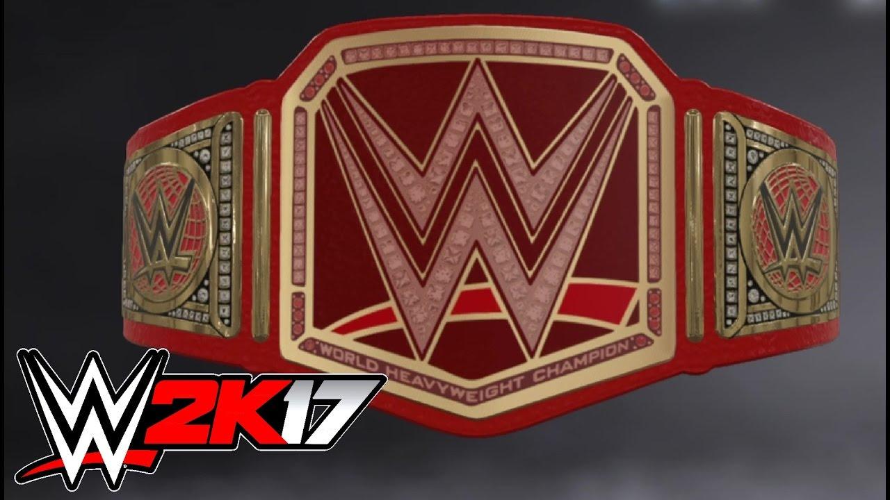 WWE 2K17  Créer une Ceinture   Titre  Championnat Universel - Ps4 ... 288b1dbea37