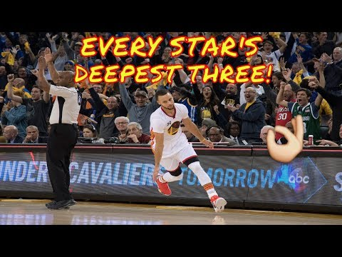 Every NBA Star's Deepest Shot!